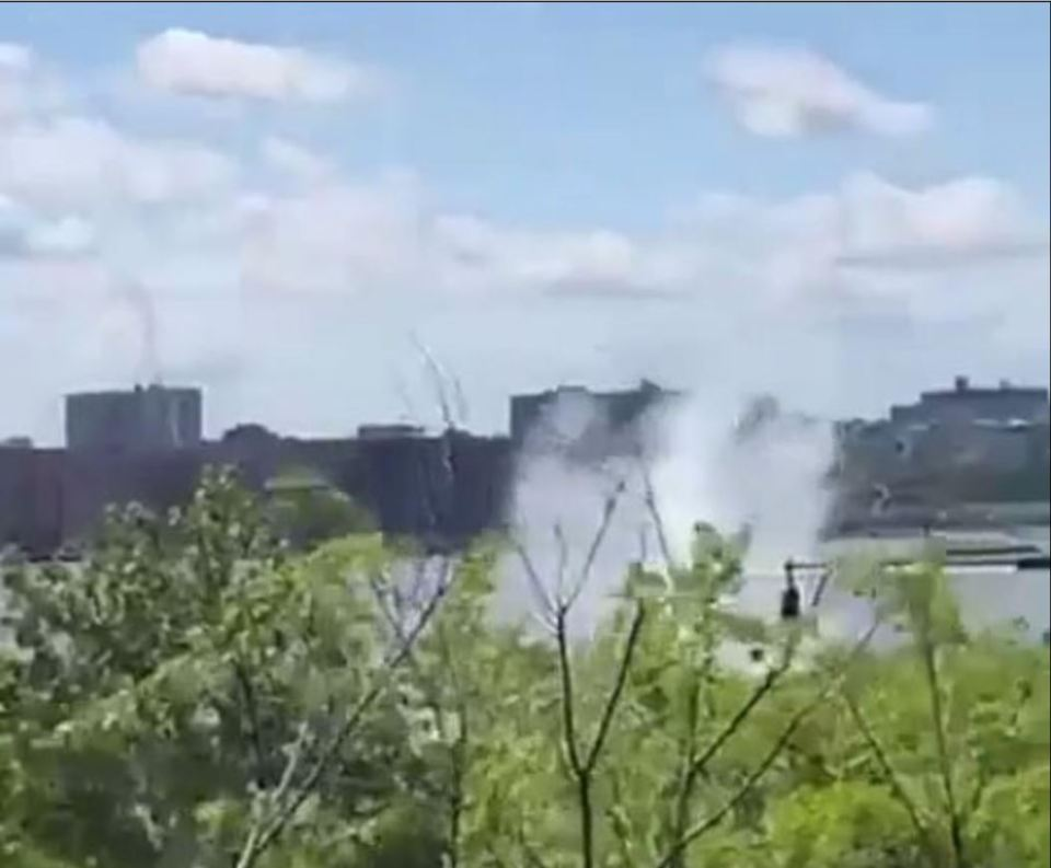 The chopper crashed into the river after refuelling while on its way to another part of the 30th Street Heliport