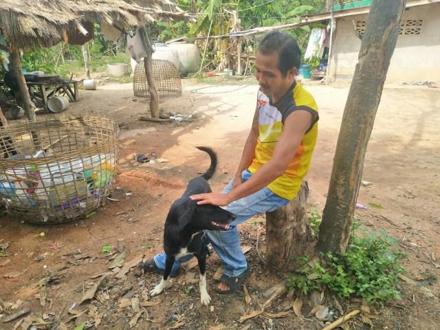 Usa Nisaika, 41, said he was proud of his hero dog Ping Pong