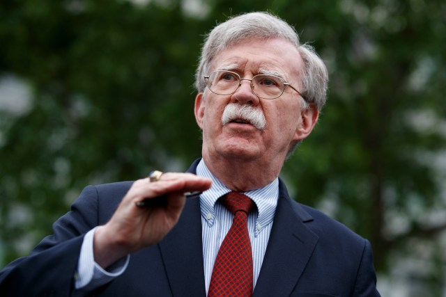 John Bolton, Donald Trump's right hand man on national security and foreign affairs