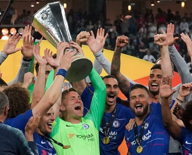 Rob Green appeared in full kit to lift the Europa League trophy on Wednesday night