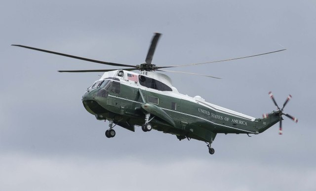 A US helicopter was seen in the area