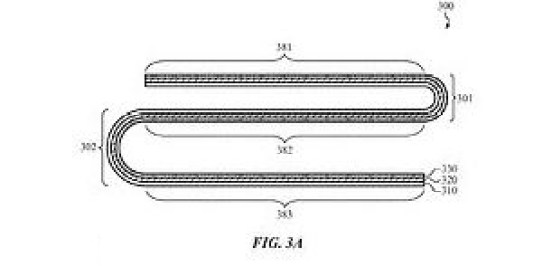 An Apple patent document shows the design for a multiple folding device