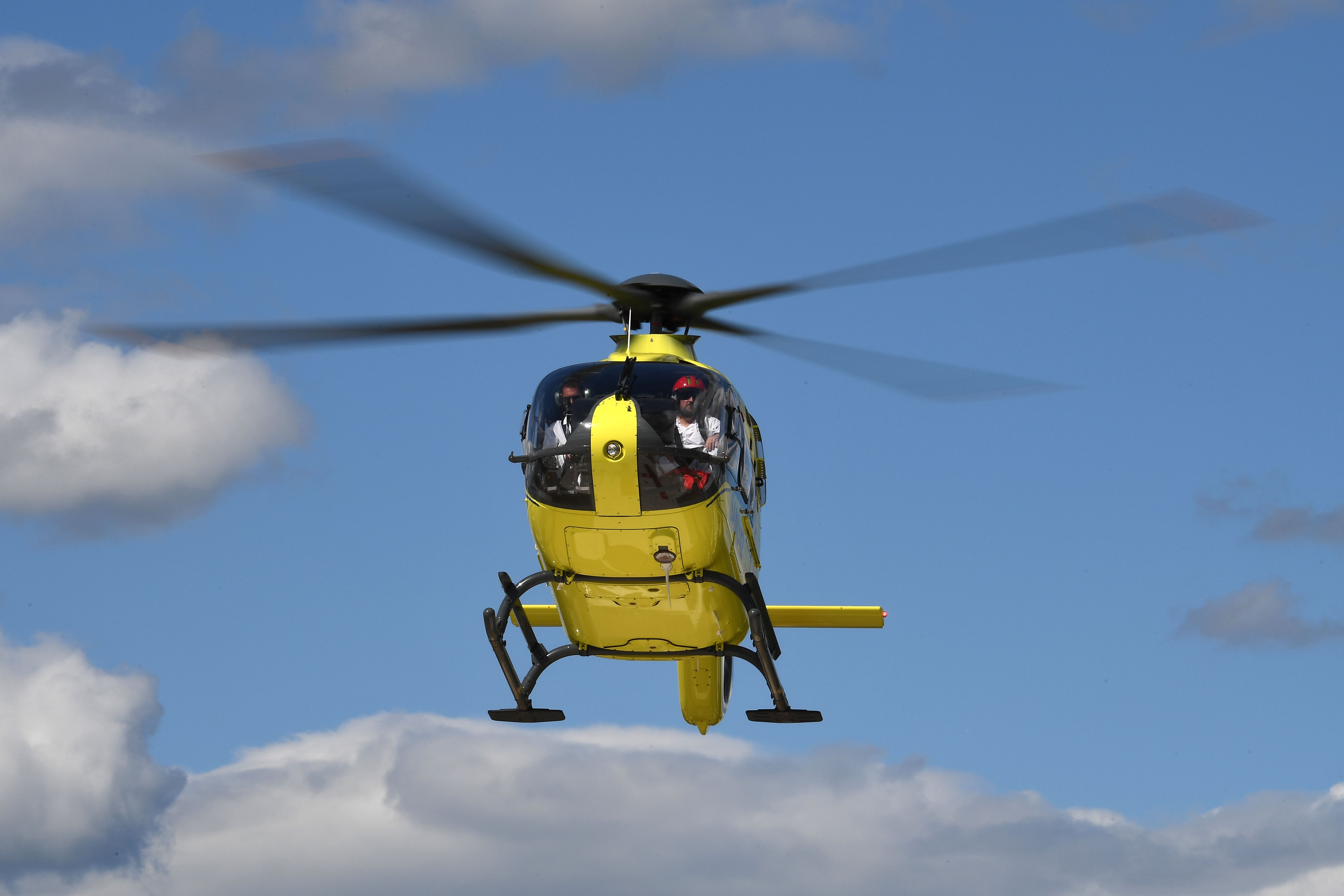 Froome had been air lifted to hospital in St Etienne