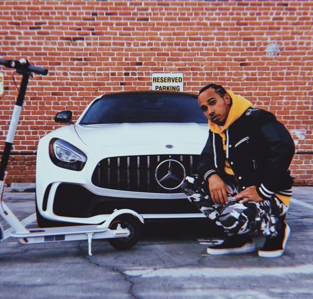 Driving for Mercedes has its perks for Hamilton