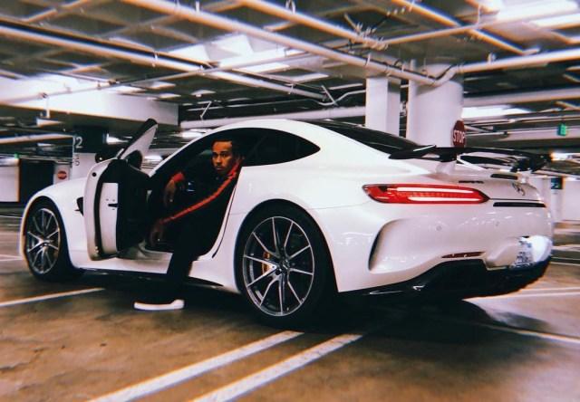 Hamilton regularly shares images on social media alongside Mercedes motors