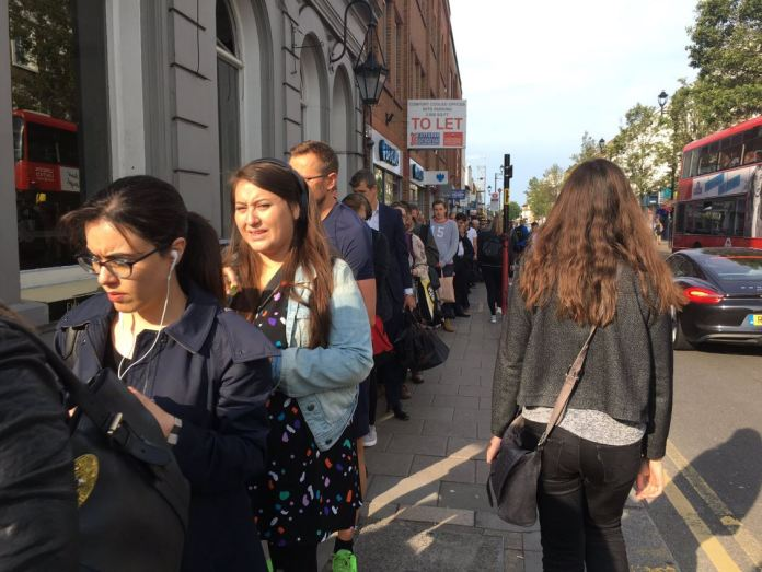 This is the queue outside Subriton station in Surrey on the first morning of SWR strikes