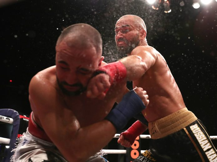 Lobov took control of the fight in the fourth and fifth rounds to earn the win