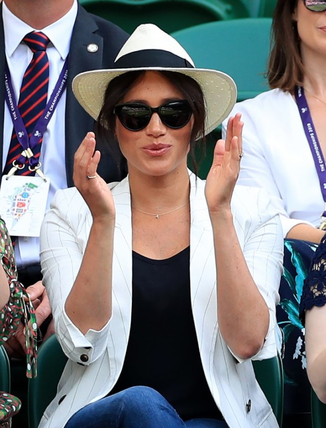 The Duchess of Sussex made the same balls up just a few days later at Wimbledon as she warned punters off taking snaps of her