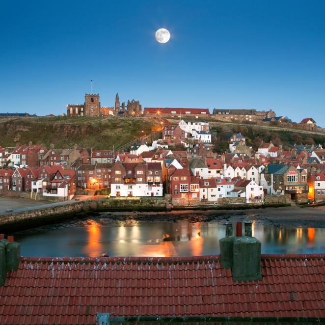 Whitby is dominated by the ruins of the Abbey
