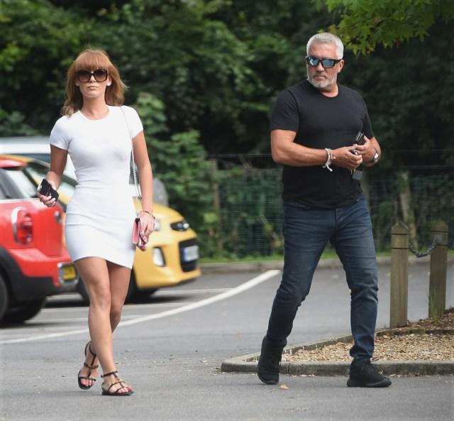 Summer walking with Paul through a carpark