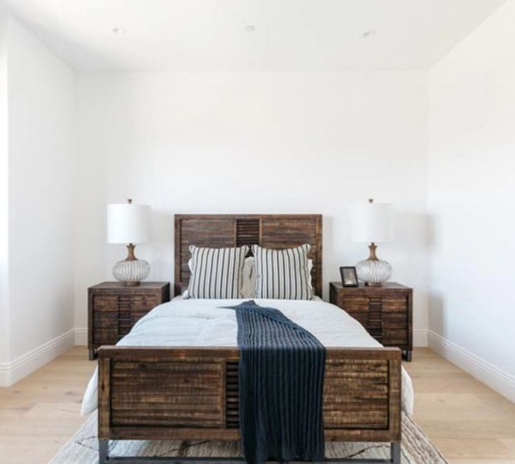 There are five spacious bedrooms in Serena's Beverly Hills mansion