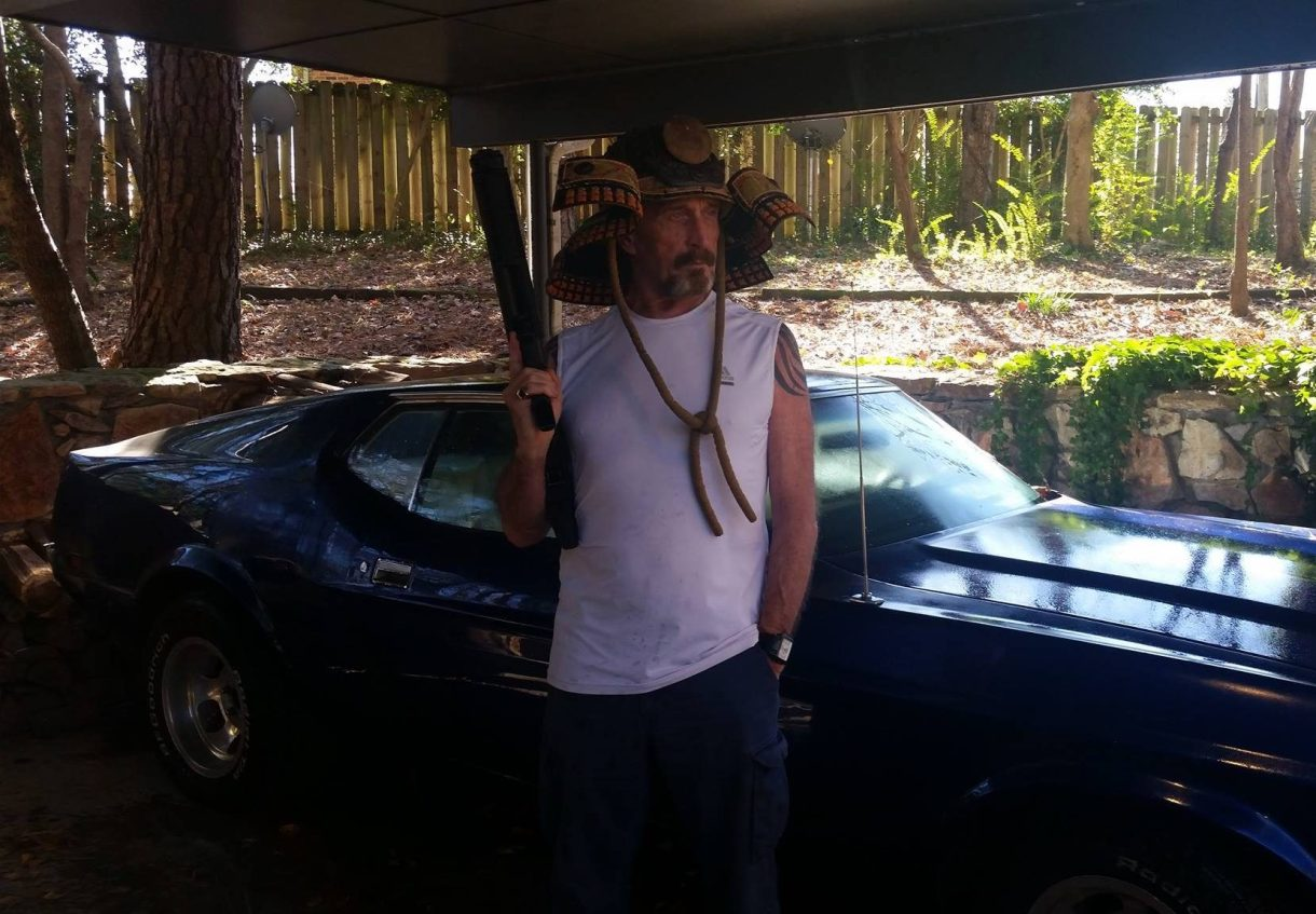 """McAfee has been deemed a """"person of interest"""" in the killing of his former neighbour"""