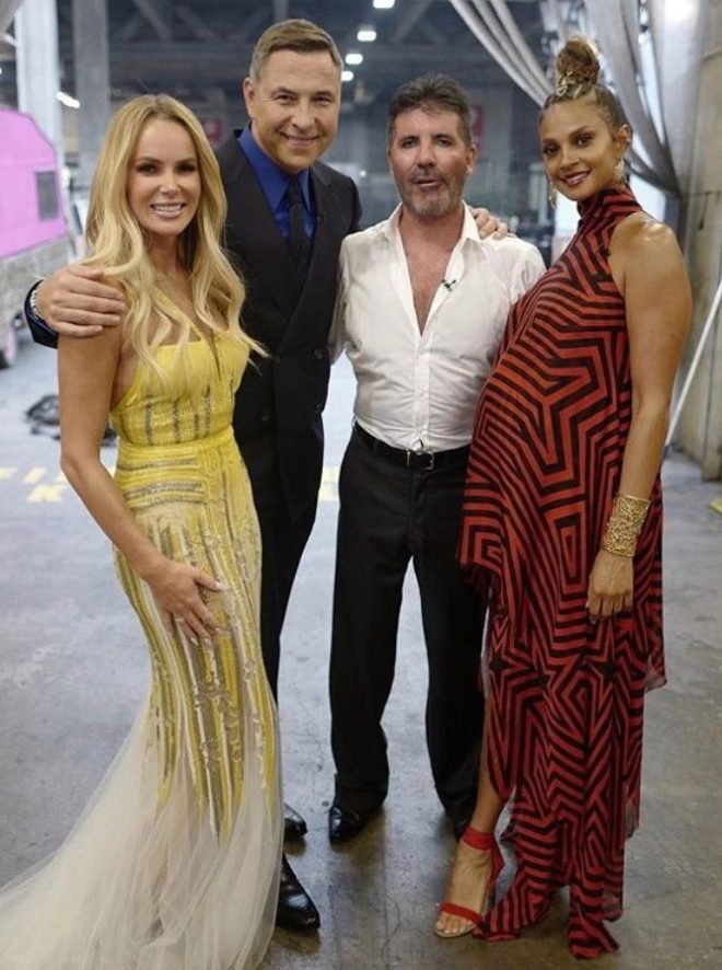 The judging panel backstage on the all-star show