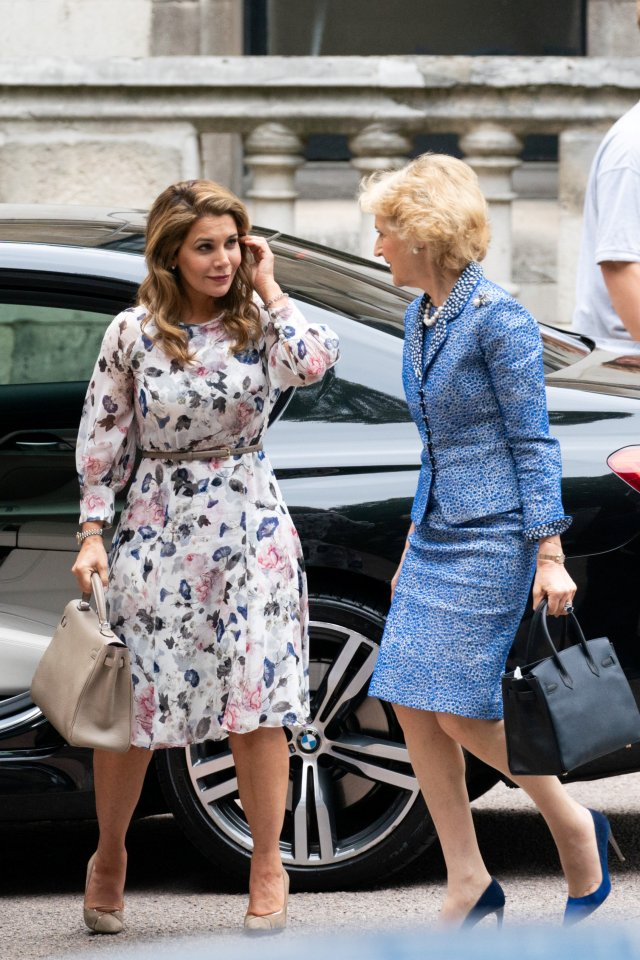 Princess Haya arrives with her lawyer Baroness Fiona Shackleton