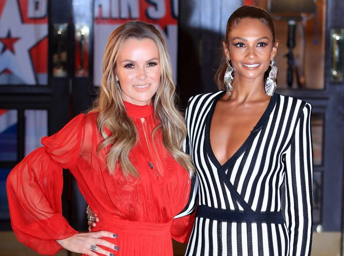 The TV star, pictured with Britains Got Talent judge Alesha Dixon, is believed to be earning £1million for the two series of the reality show this year
