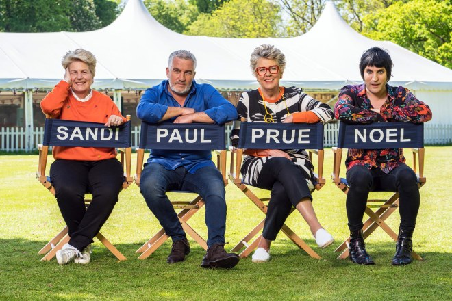 Sandi, Paul, Prue and Noel will be back for Bake Off 2019