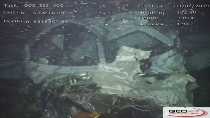 The wreckage was found in the English Channel