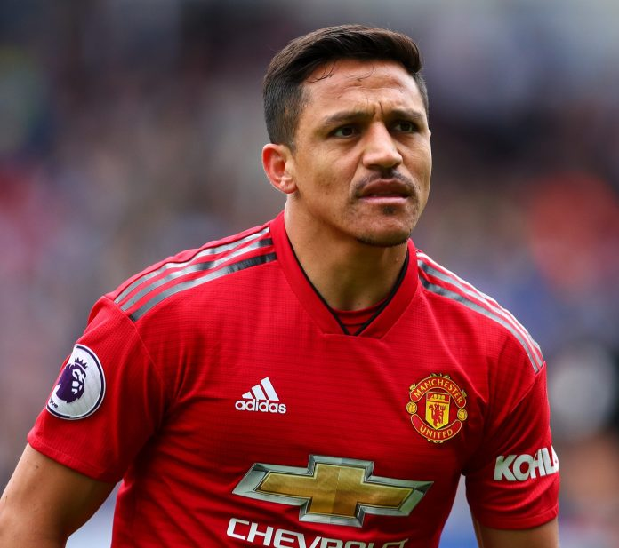 Alexis Sanchez was left fuming by a tackle by Mason Greenwood in training this week