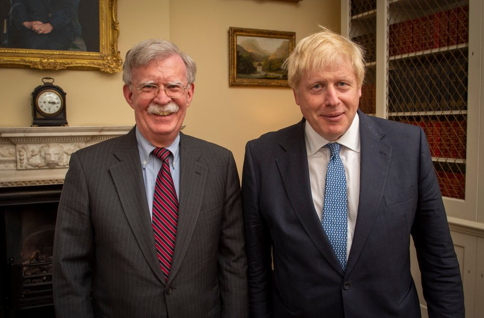 US National Security adviser John Bolton meets Boris Johnson in London on Monday
