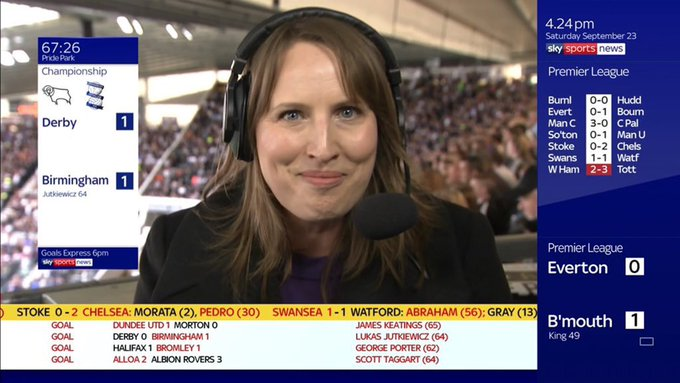 James joked about the uncanny similarity between him and Sky Sports reporter Faye Carruthers