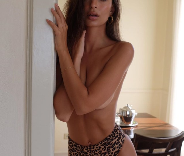 Emily Ratajkowski Strips Topless As She Poses In Just A Pair Of