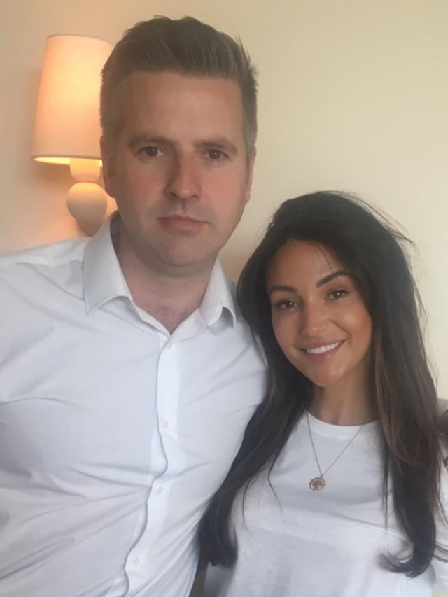 The Sun's Stuart Pink and ex-Corrie actress Michelle Keegan