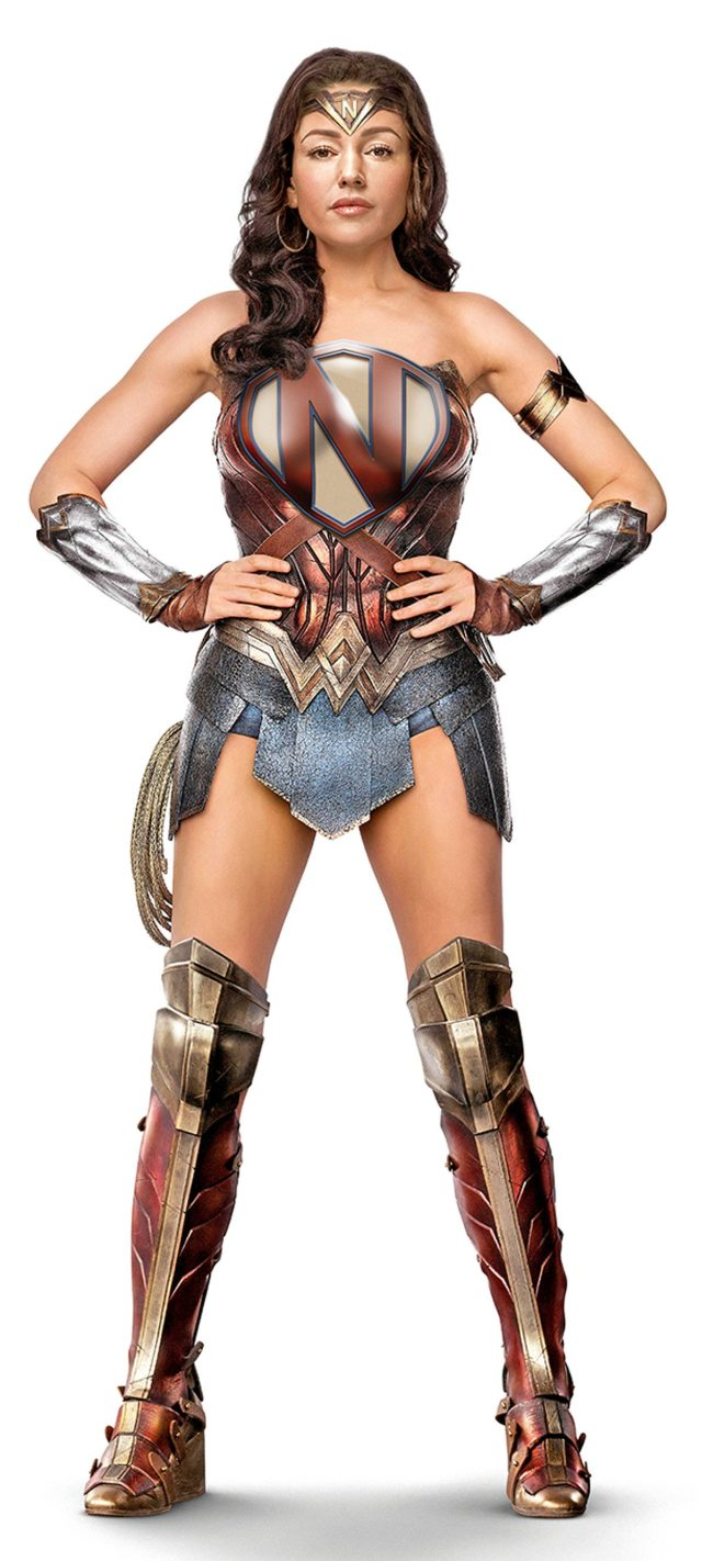 How Michelle might look as Northern Girl - a superhero with gravy