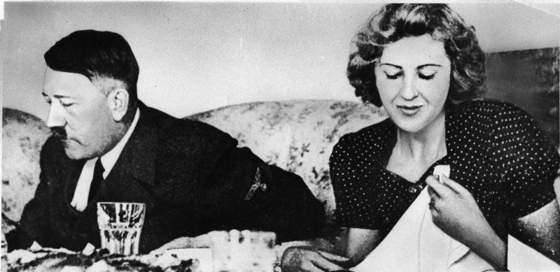 German dictator Adolf Hitler and his mistress Eva Braun captured in a private home movie made by Braun's sister Gretl Fegele in, the early to mid 1940s