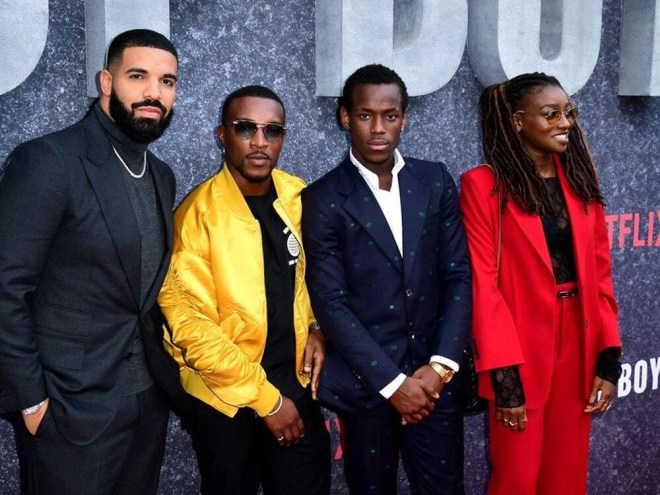 Drake at Top Boy premiere