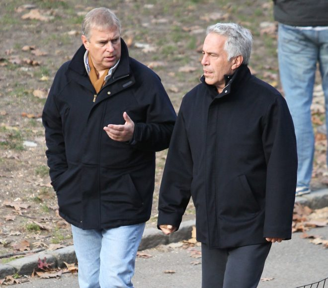 Prince Andrew and Jeffrey Epstein snapped on a stroll through New York's Central Park two years after the billionaire was charged with procuring a person under 18 for prostitution