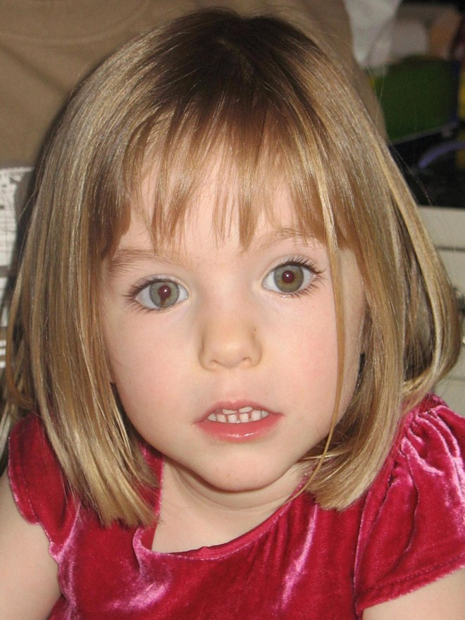 Maddie Mccann went missing when she was just three-years-old on a family holiday in Portugal
