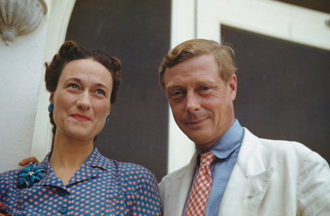 Wallis, Duchess of Windsor and the Duke of Windsor outside Government House in Nassau, the Bahamas, circa 1942