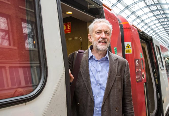 Jeremy Corbyn pledged to travel the world by train wherever possible if he becomes PM