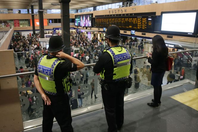 "Police will be ready to take ""robust"" action with a heavy presence at Euston Station"