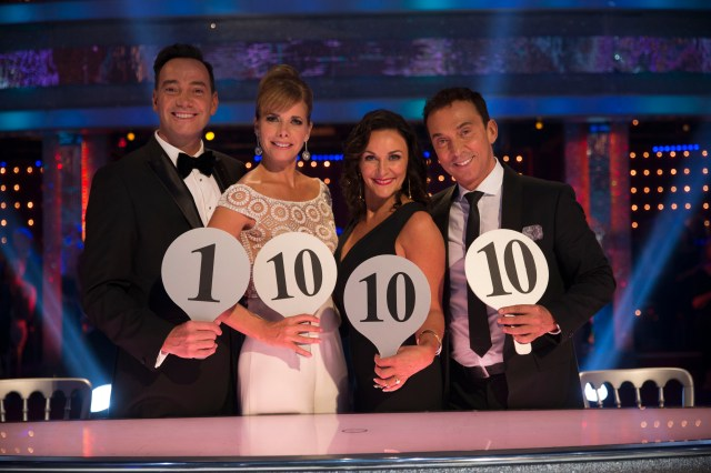 Strictly Come Dancing judges in 2018 Craig Revel Horwood, Darcey Bussell, Shirley Ballas, and Bruno Tonioli
