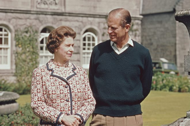 Balmoral is said to be the Queen's favourite Royal residence, photographed outside the castle with the Duke of Edinburgh in 1972