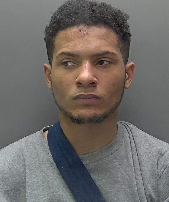 Che Ambe, 21, chased down his victim and cut off his hand