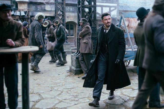Orlando Bloom plays Rycroft Philostrate in Carnival Row