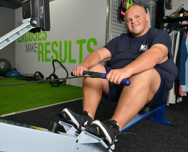 Dibsy now has a gruelling fitness regime comprising of three gym sessions a day