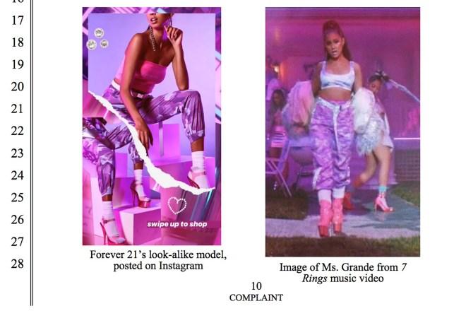 Ariana Grande sues Forever21