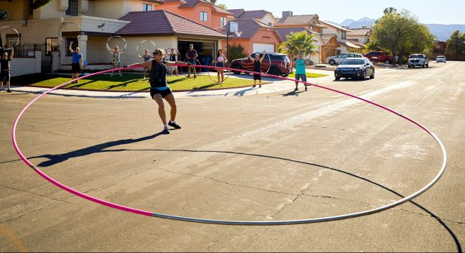 Getti Kehayova broke the record for the largest hula hoop twirled by a female