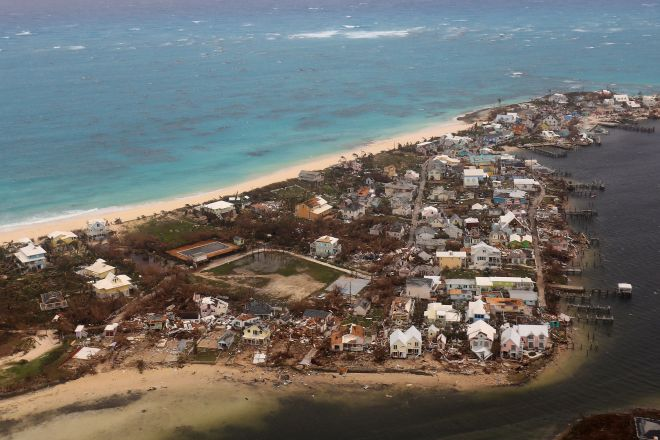Aerial photos show the debris and destruction left in the wake of the hurricane