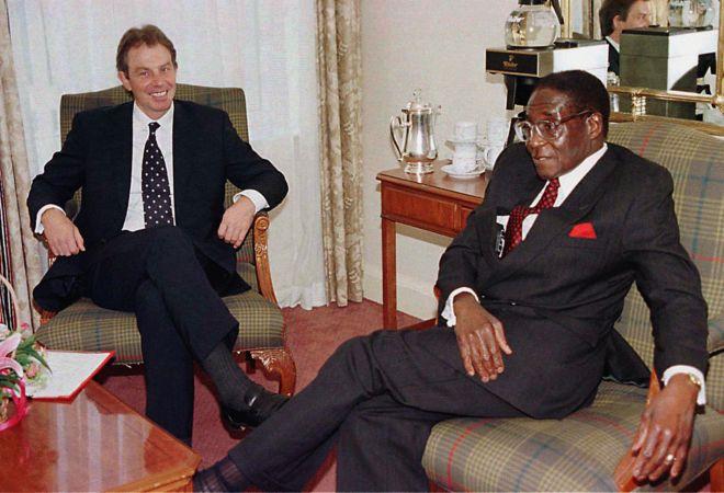Former Prime Minister Tony Blair spoke with the Zimbawean president in Edinburgh