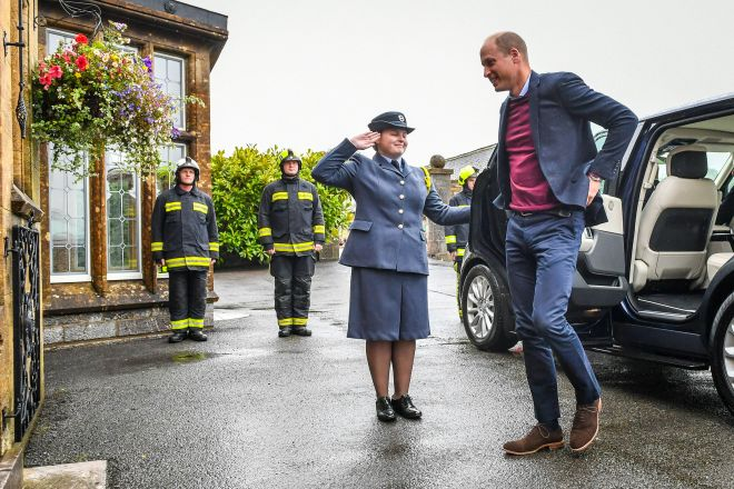 Prince William recognised the work done by emergency services in Devon during today's visit