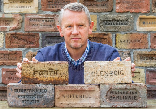 Ex-cop Mark Cranston has a collection of 3,500 bricks