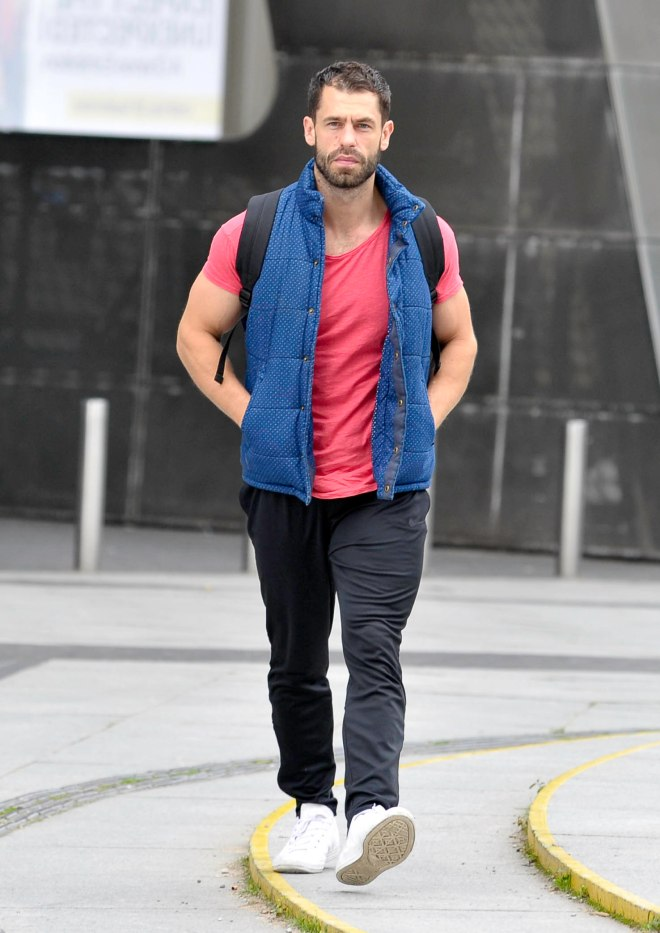 Kelvin, 35, arrives for Strictly Come Dancing rehearsals in Manchester