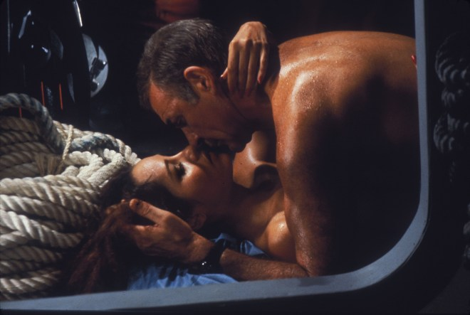 Sean Connery got steamy with Barbara Carrera in Never Say Never Again