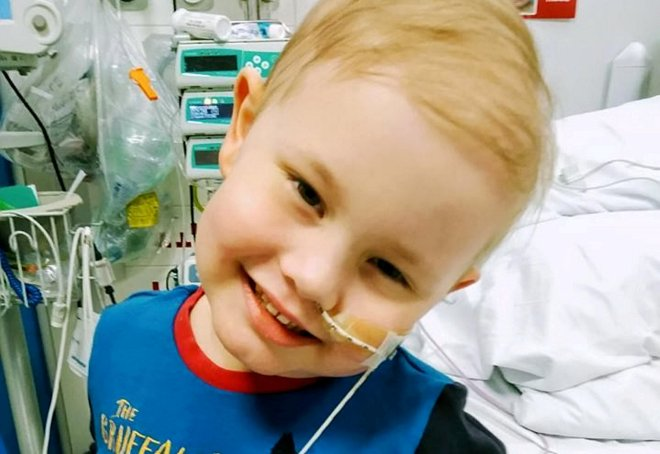Oscar Saxelby-Lee was diagnosed with leukaemia just before Christmas last year