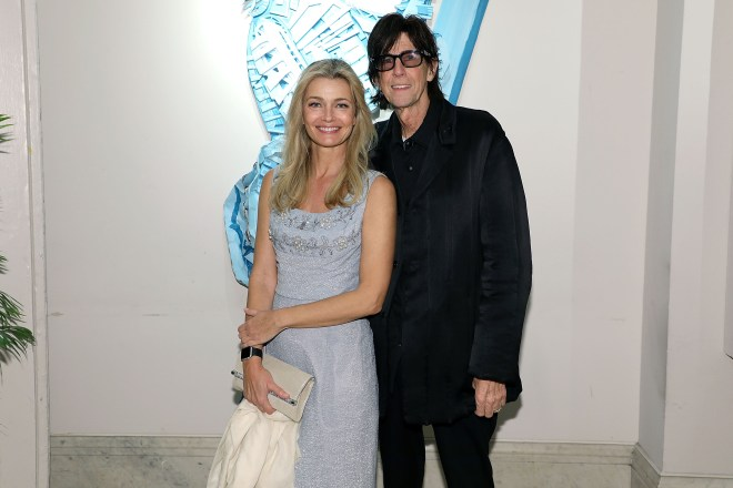 Ric was found 'unconscious and unresponsive' by his estranged wife, Paulina Porizkova (pictured)