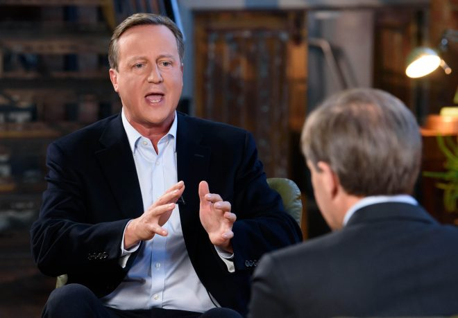 Ex-PM David Cameron gets grilled by ITV's Tom Bradby